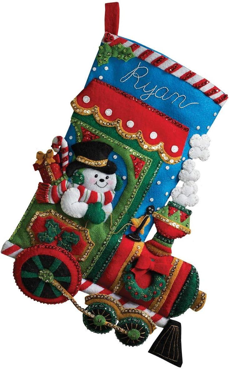 Bucilla Candy Express Weihnachtsstrumpf-Applikation aus Filz