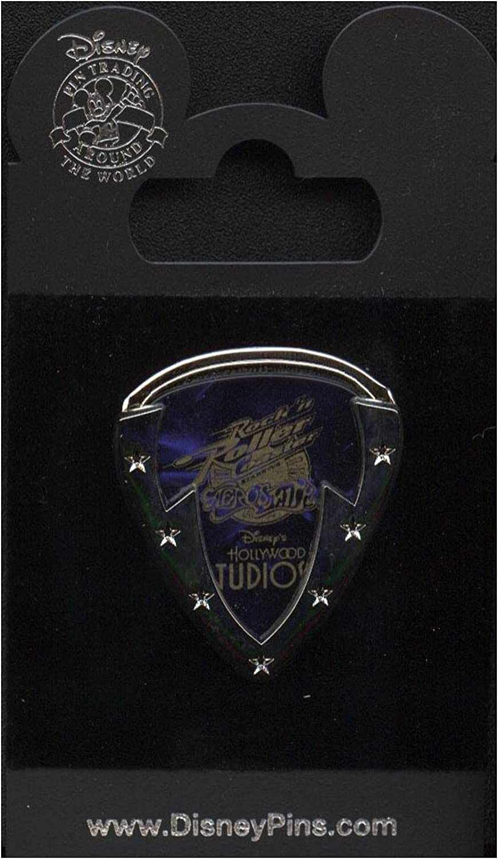 Disney Guitar Pick Plectrum Wings Rock'n' Roller Coaster AEROSMITH Pendant Nice