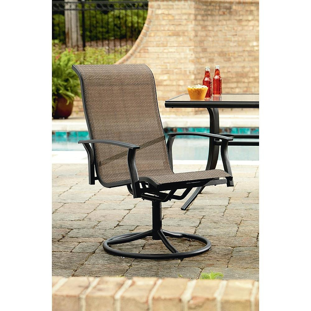Amazon.com : Durango 7 Piece Patio Dining Set, Includes 4 Stationary  Chairs, 2 Swivel Chairs And A Rectangular Dining Table (umbrella Sold  Separately) ...
