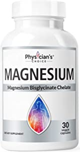 Magnesium Glycinate - Patented Bisglycinate Non Buffered Chelated Magnesium Supplement for Sleep, Muscle Cramps, Relaxation, Bone Density, Gluten Free, Non-GMO, 30 Capsules