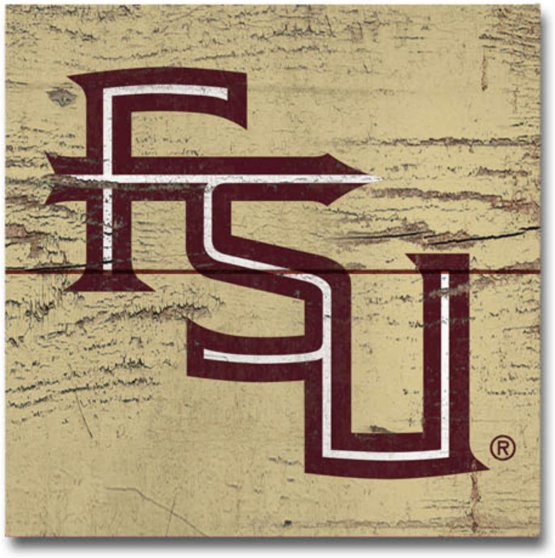 NCAA Legacy Florida State Seminoles Wood Magnet Wood One Size 2.5 x 3.5