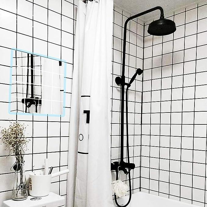Spiegel Wandaufkleber Diy Dekorative Spiegel Selbstklebende Mosaik Fliesen Aufkleber Wandbehandlungen Umweltfreundliche Materialien F/ür Wohnzimmer Schlafzimmer Hause Spiegel Decor 60 100 Cm
