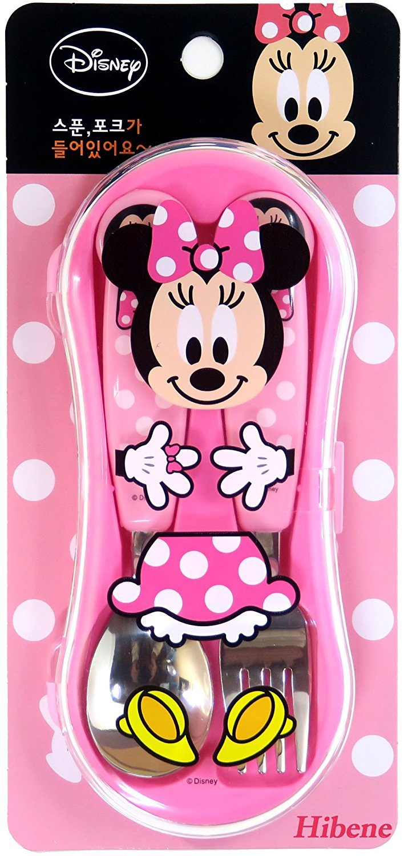Minnie Mouse Disney Kids Spoon Fork Case Set