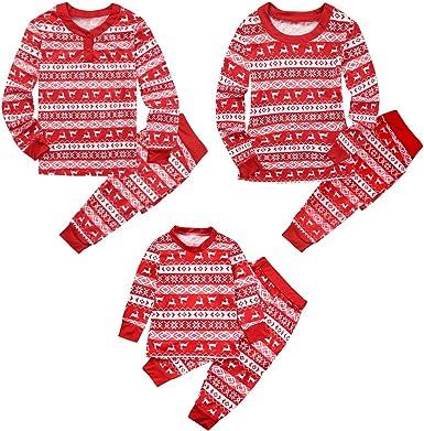 Conjunto de Pijamas Familia Navidad Mujer Niño Hombre Ropa de ...
