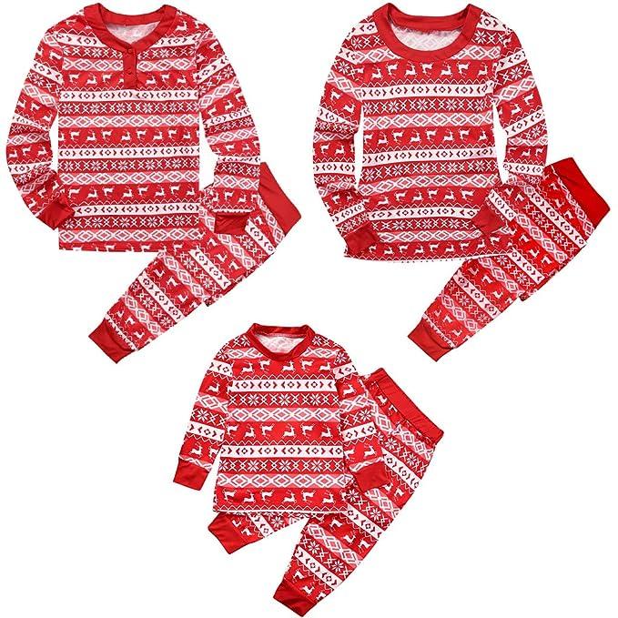 Conjunto de Pijamas Familia Navidad Mujer Niño Hombre Ropa de Dormir Algodón Pijamas Manga Larga 2 piezas Xmas Disfraz Papá Mamá Pyjamas Sets, ...
