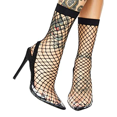 427ced6ab4f Themost Fishnet Heels Sandals for Women