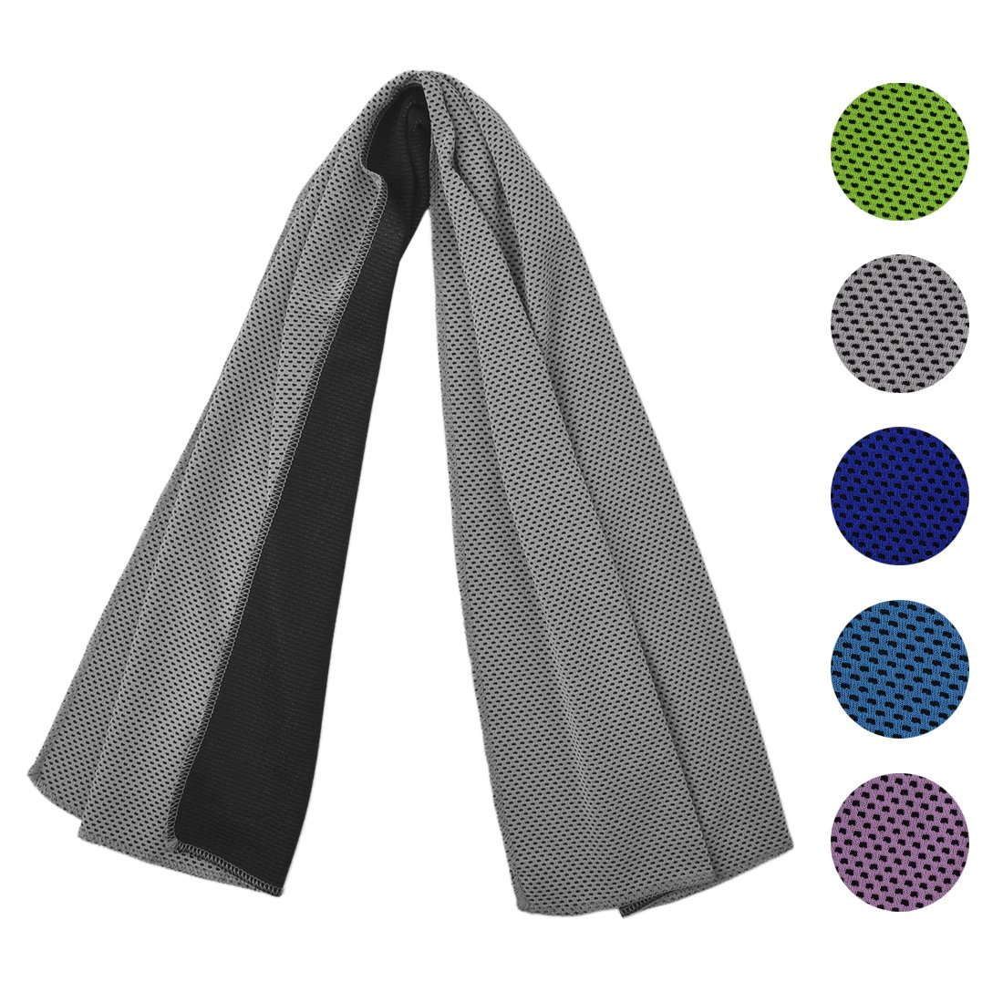 Fidget Toy Cooling Towel for Sports, Workout, Fitness, Gym, Yoga, Pilates, Travel, Camping & More, Ice cold, Camouflage, multi colors (BP-Gray)