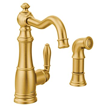 Moen S72101bg Weymouth Kitchen Faucet Brushed Gold Amazon Com