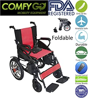 2019 UPDATED Electric Wheelchairs Silla de Ruedas Electrica para Adultos FDA Approved Transport Friendly Lightweight Folding
