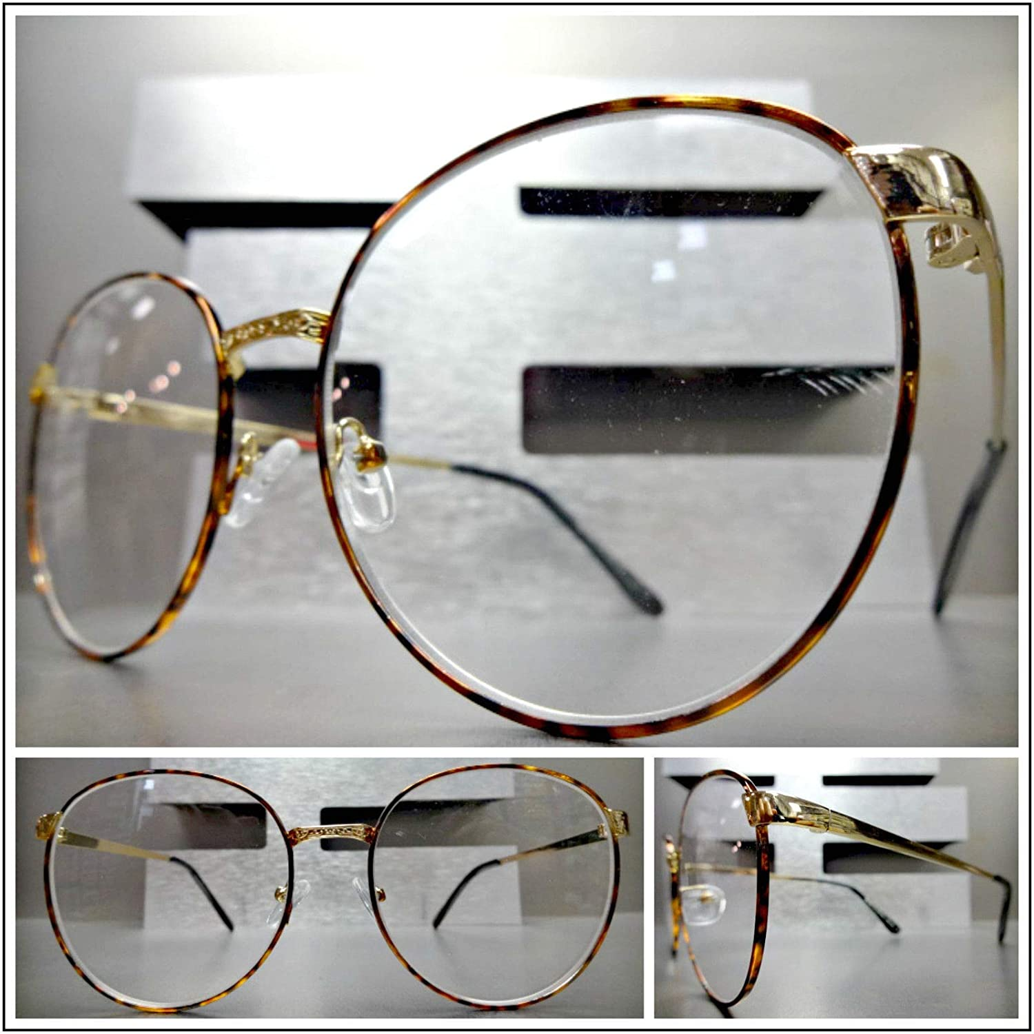 1880e253e1f Amazon.com  Oversized Exaggerated Retro Style Reading Eye Glasses Readers  Gold Oval Frame (+2.75 Strength)  Health   Personal Care