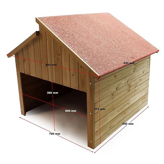 Garage Für Mährobotor Aus Holz Für Alle Gängigen Rasenroboter: Amazon.de:  Garten