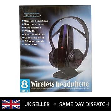 8-en-1 auriculares inalámbricos SF-880 para Laptop, Desktop, VOIP
