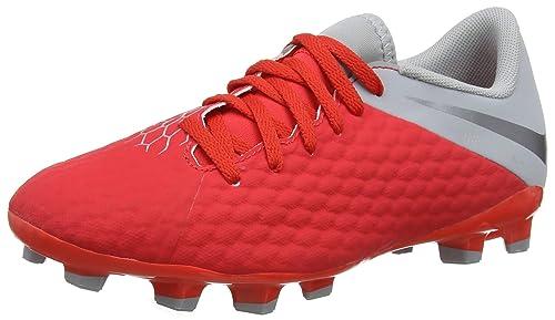 Nike Jr Hypervenom 3 Academy FG, Zapatillas de fútbol Sala Unisex Adulto, (Lt Crimson/Mtlc Dark Wolf Grey 600), 38.5 EU: Amazon.es: Zapatos y complementos