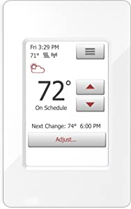 WarmlyYours UWG4-4999 nSpire Touch WiFi Programmable Smart Thermostat, with Touchscreen, Class A GFCI, and Floor Sensor (White)