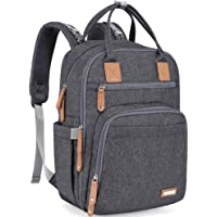 Diaper Bag Backpack, iniuniu Large Unisex Baby Bags Multifunction Travel Back Pack for Mom and Dad with Changing Pad and…