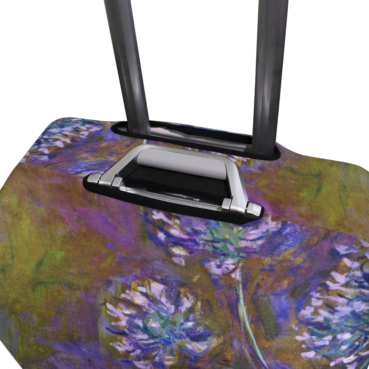 Monet Water Lillies Luggage Cover Suitcase Protector Fits 18-20//22-24 Inch