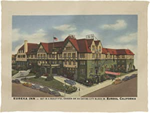 Lantern Press Eureka Inn Hotel View in Eureka, California 6076 (60x80 Poly Fleece Thick Plush Blanket)