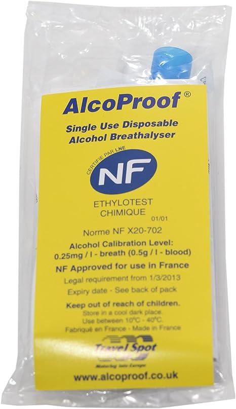 Alcoproof Alcootest fran/çais certifi/é