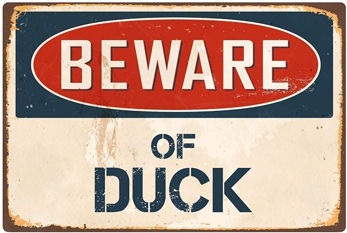"""20 cm x 30 cm Bar Cartello Decorativo di Sicurezza Bagno Esterni Laboratorio con Scritta in Lingua Inglese /""""Beware of Duck/"""" per Area edilizia Garage KEAPSIGN"""