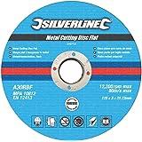 Silverline 349754 10 Disques plats à tronçonner le métal 125 x 3 x 22,23 mm