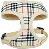 WONDERPUP Plaid Dog Cat Harness with Comfort Soft Mesh No Pull Durable for small puppy walking