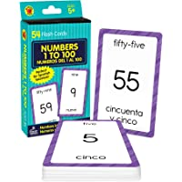 Carson Dellosa - Numbers 1 to 100 / Numeros 1 al 100 Flash Cards - ESL Bilingual Spanish Counting Cards for Kindergarten…