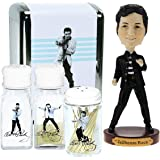 Elvis Presley Bobblehead Gift Set Napkin Toothpick Holder Salt And Pepper Shaker Kitchen Collectibles