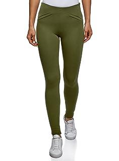 oodji Collection Mujer Pantalones Ajustados con Bolsillos Decorativos