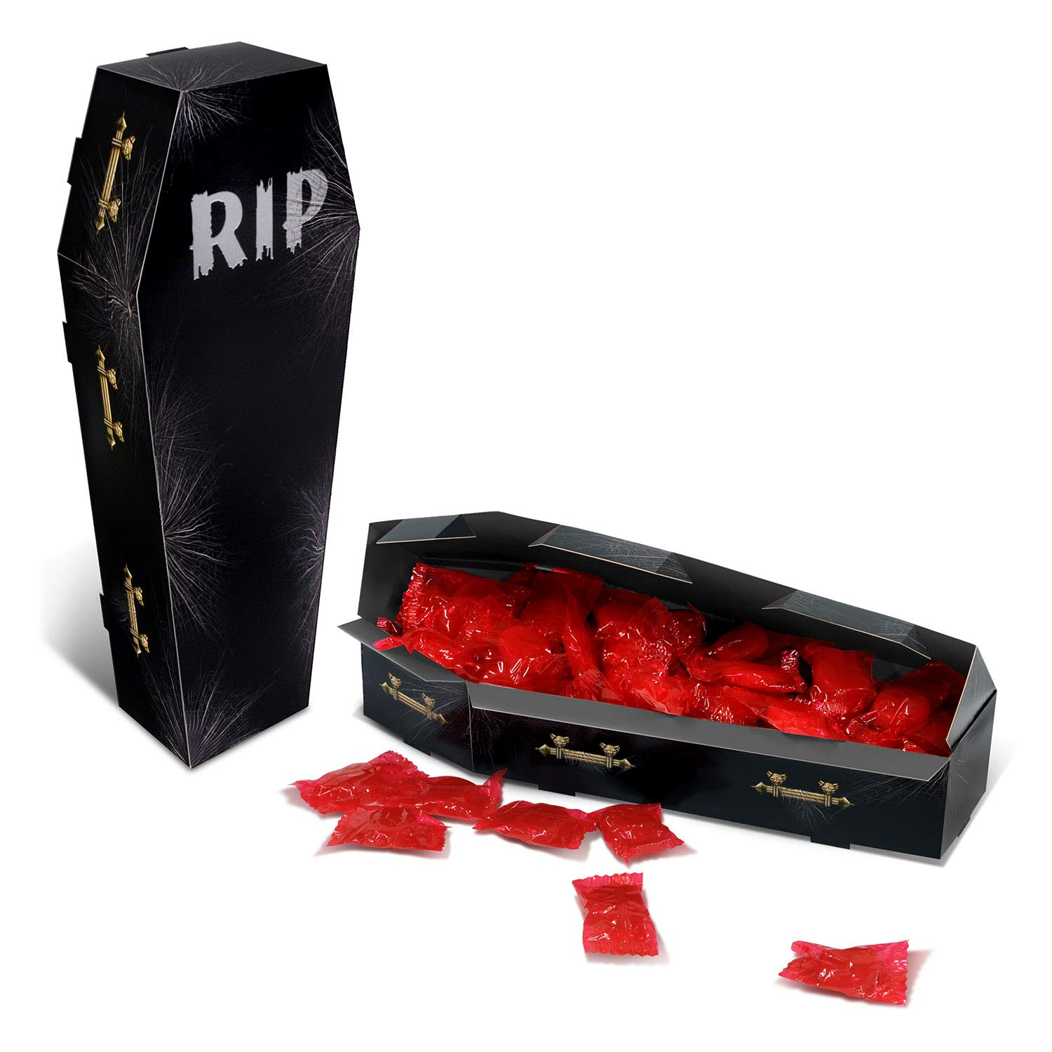 Club Pack of 12 Halloween Creepy Coffin Centerpiece Party Decorations 9.75''