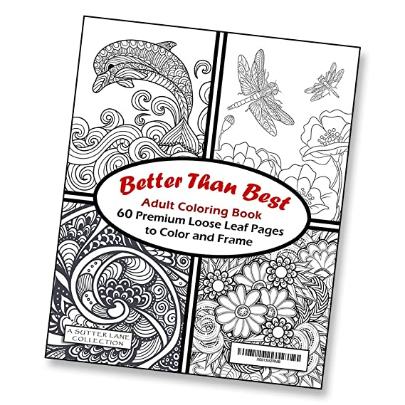 Amazon Better Than Best Giant Adult Coloring Book