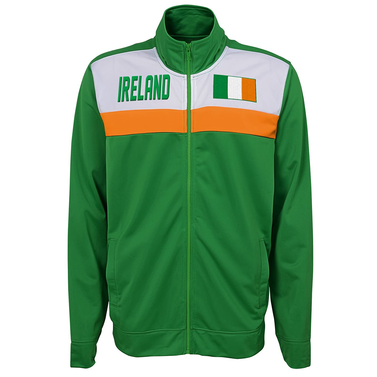 X-Large International Soccer Ireland Mens Outerstuff Track Jacket Team color