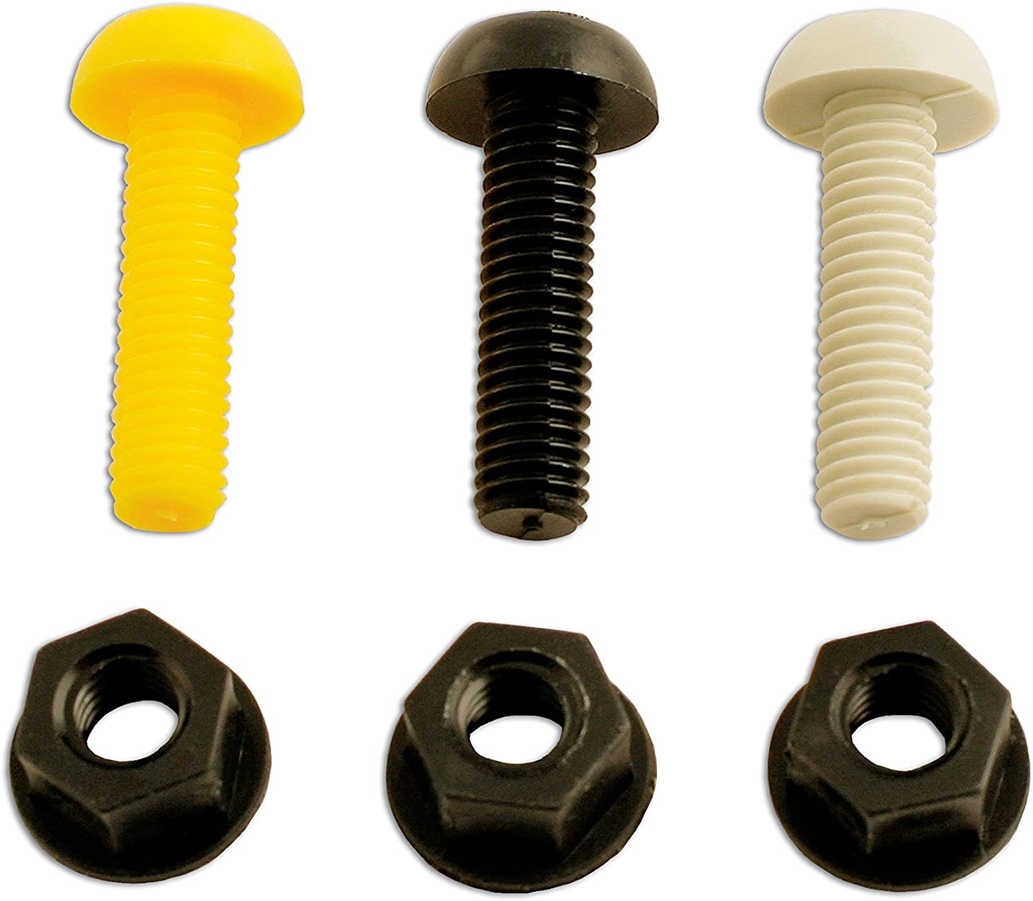 12x Hex or Wing Nut Nylon Plastic Washer Tough White or Black Hex bolt