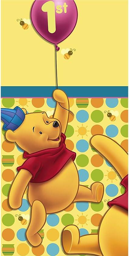 Amazon.com: Winnie the Pooh s 1er Cumpleaños Mantel de ...