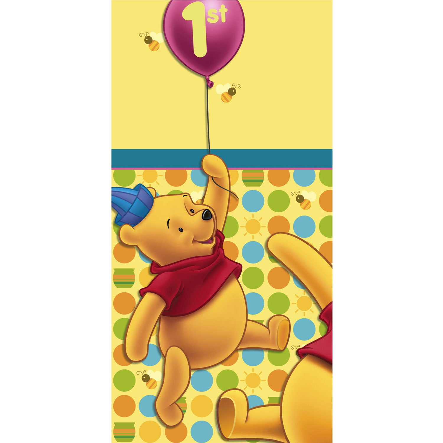 Pooh's 1st Birthday Paper Tablecover