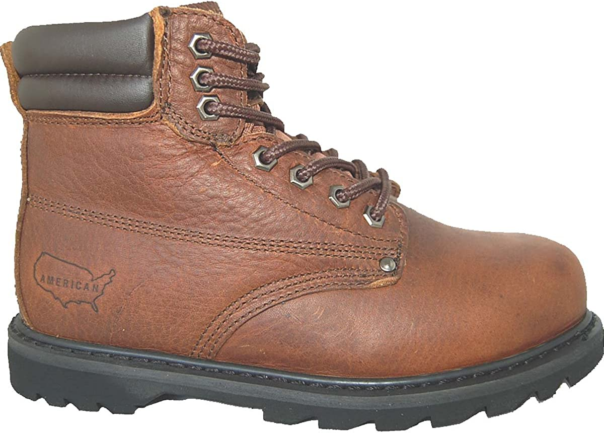 15D US Brown Krazy Shoe Artists Steel Toe 6 Inch Leather Mens Work Boots