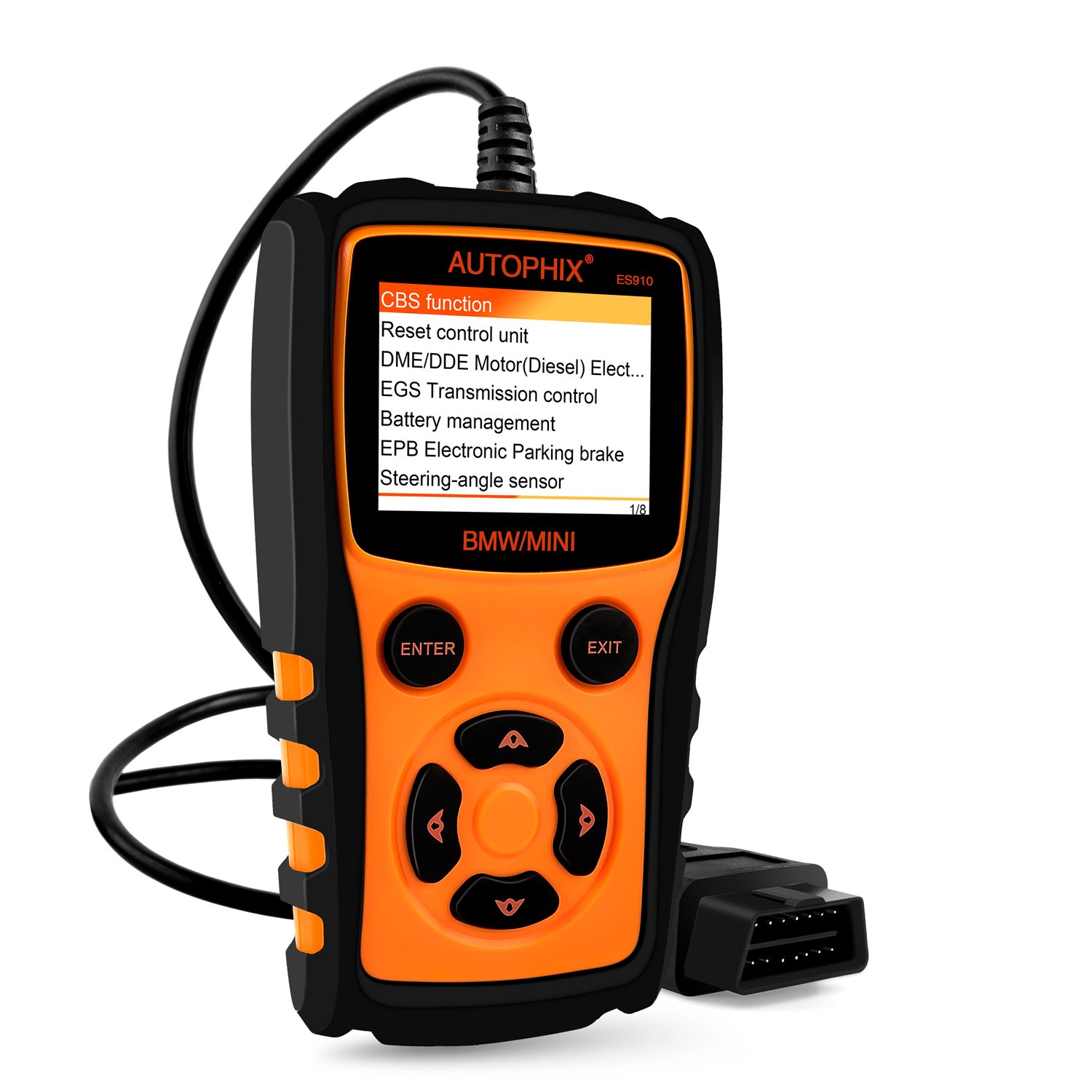 AUTOPHIX ES910 BMW Diagnostics Scanners OBD II OBD2 Automotive Code Readers  Check Engine Transmission ABS Airbag Fault Codes Scan Tool with EPB