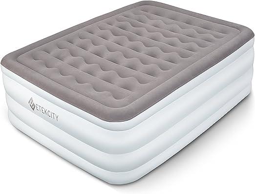 Etekcity Air Mattress Queen Size Heavy Duty Blow Up Bed Inflatable Mattress