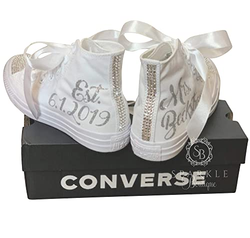 Amazon.com: Bridal Sneakers BLINGED OUT
