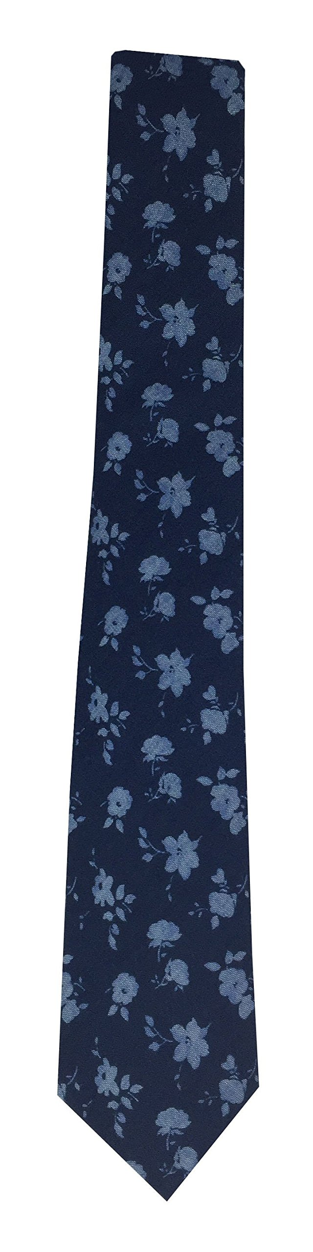 Theory Men's Floral Chambray Tie (Navy Floral Chambray)