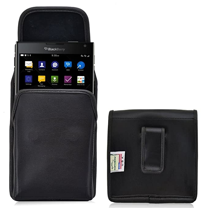 separation shoes 0e260 0d007 Turtleback Holster Compatible with BlackBerry Passport Black Vertical Belt  Case Leather Pouch with Executive Belt Clip Made in USA