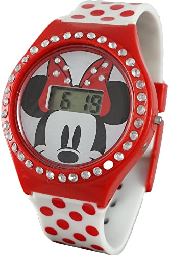 Disney Minnie Mouse MN1251 - Reloj digital para niña con diamantes de imitación: Amazon.es: Relojes