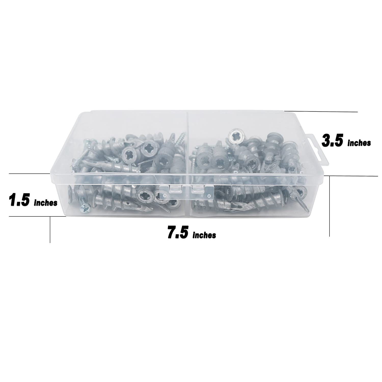 T.K 100/piezas excelente Auto perforaci/ón Drywall anclajes con tornillos Kit