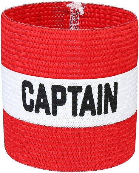 VerteLife Brazalete de Capitán de Fútbol Clásico, Elastico Capitán Brazalete para Adultos y Niños, Apto para Varios Deportes - Rojo, Talla única: Amazon.es: Deportes y aire libre