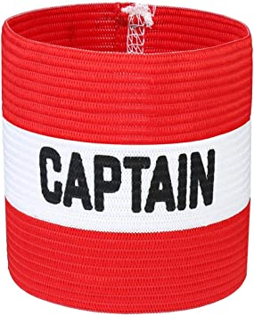 VerteLife Brazalete de Capitán de Fútbol Clásico, Elastico Capitán ...