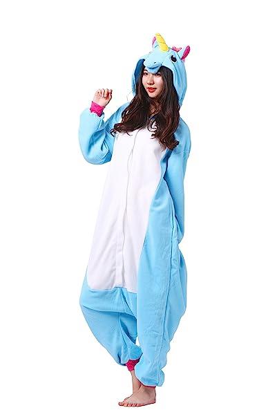 Magicmode Animal Adulto Kigurumi Unicornio Traje De Cosplay De Anime Enterizo Sudadera con Capucha De Pijamas