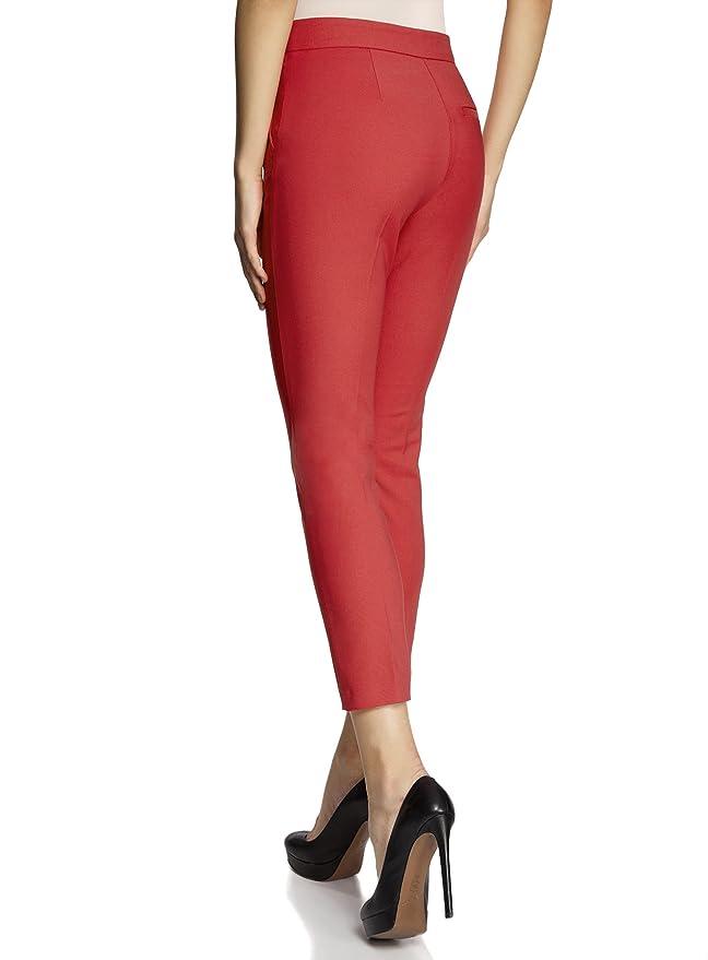oodji Collection Femme Pantalon Moulant à Plis  Amazon.fr  Vêtements et  accessoires 17b11f2c6939