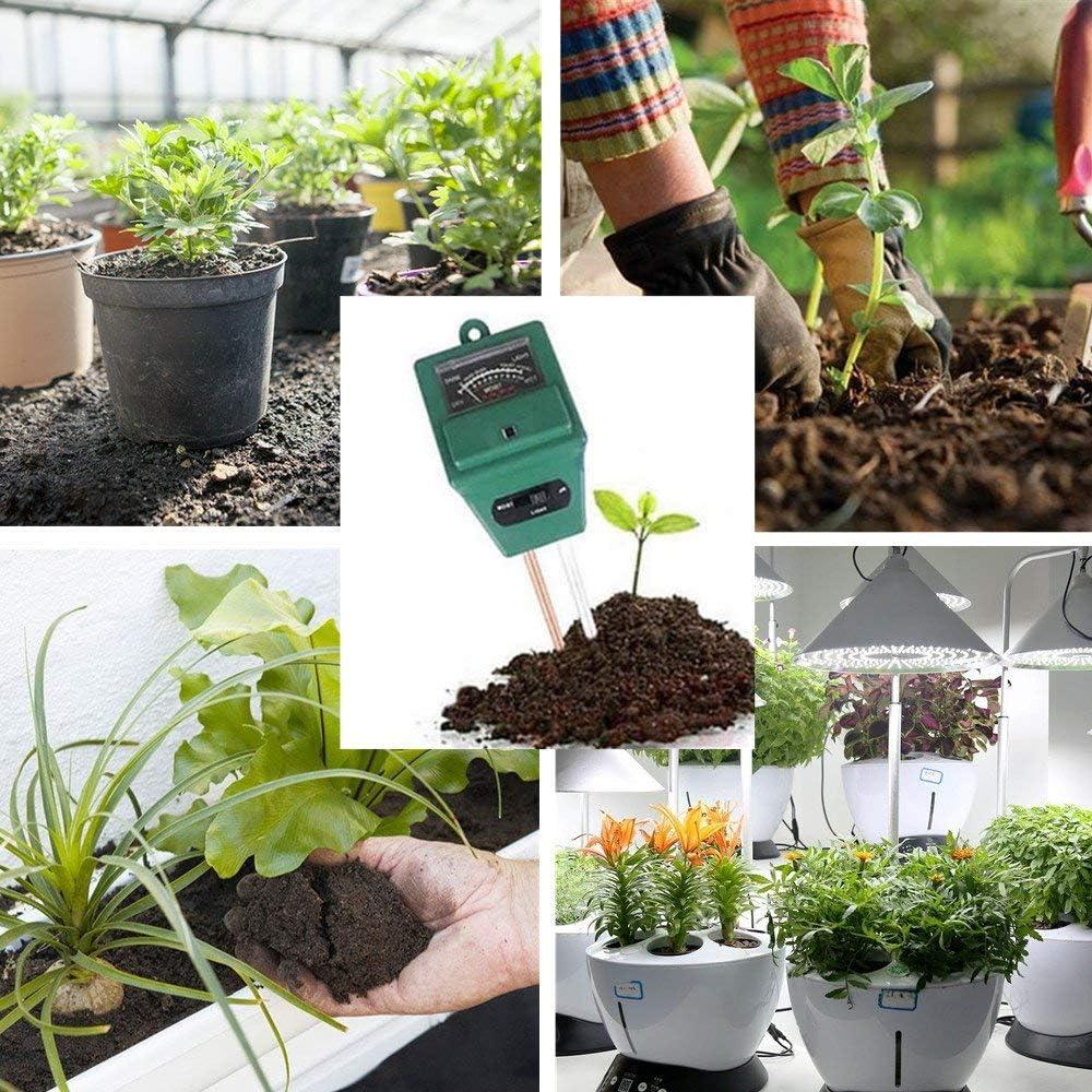 3-in-1 Sensor y Medidor de Humedad del Suelo para Jardín, Granja, Césped, Interior y Exterior (No Necesita Batería): Amazon.es: Amazon.es