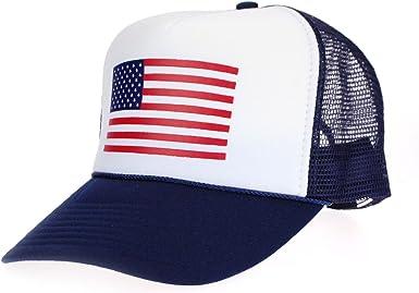 Unisex cap gift for her USA Flag Cap American Flag Cap Trucker Caps Gift for him! American Flag Print 5 Panel Foam Trucker Mesh Cap