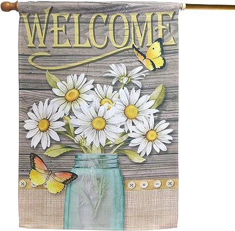 Amazon.com: LAYOER - Bandera de jardín para el hogar, 28 x ...