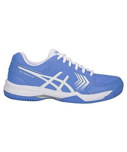 Schuhe Asics GEL DEDICATE 4 CLAY Tennisschuhe Sportschuhe Tennis Sandplatzschuhe Weiß Sport
